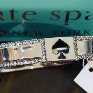 NWT 10mm hinge pave silver bangle